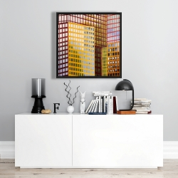 Framed 24 x 24 - Skyscrapers