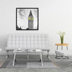 Framed 24 x 24 - Outline of big ben in london