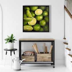 Framed 24 x 24 - Basket of limes