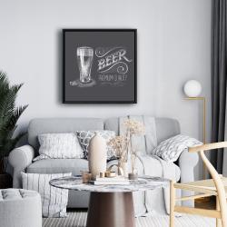 Framed 24 x 24 - Vintage beer signboard