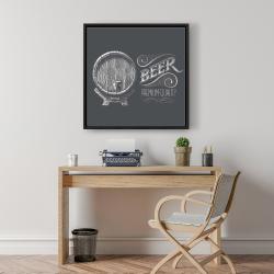 Framed 24 x 24 - Old beer sign