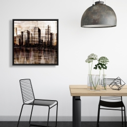 Framed 24 x 24 - Sketch of the city