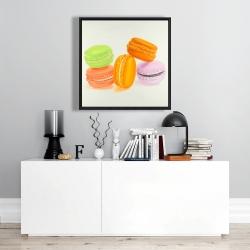 Framed 24 x 24 - Small bites of macaroons