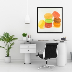 Framed 24 x 24 - Delicious macaroons