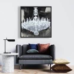 Framed 24 x 24 - Glam chandelier
