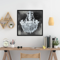 Framed 24 x 24 - Big glam chandelier