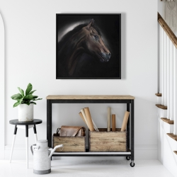 Framed 24 x 24 - Loneliness horse