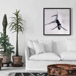 Framed 24 x 24 - Dancer on aerial silks