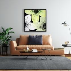 Framed 24 x 24 - Yellow flower with burst center