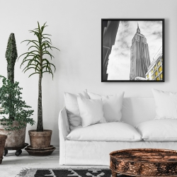 Framed 24 x 24 - Outline of empire state building