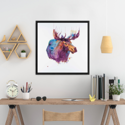 Framed 24 x 24 - Abstract moose