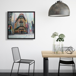 Framed 24 x 24 - Building architecture in new-york