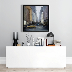 Framed 24 x 24 - In the city