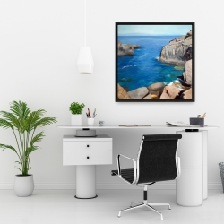 Framed 24 x 24 - California coast