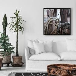 Framed 24 x 24 - Driftwood