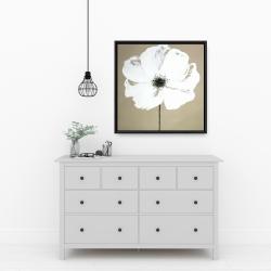 Framed 24 x 24 - Abstract color splash flower