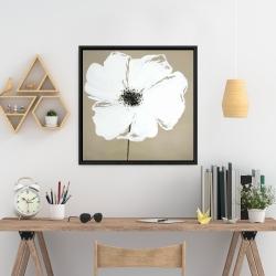 Framed 24 x 24 - Abstract color splash petals flower