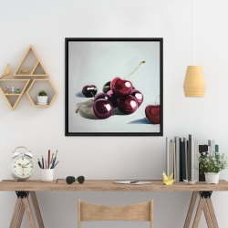 Framed 24 x 24 - Glossy dark cherries