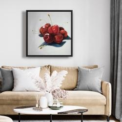 Framed 24 x 24 - Pile of cherries
