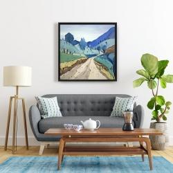 Framed 24 x 24 - Tuscany trail