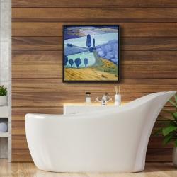 Framed 24 x 24 - Tuscany field