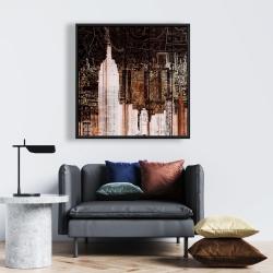 Framed 24 x 24 - The empire city of newyork