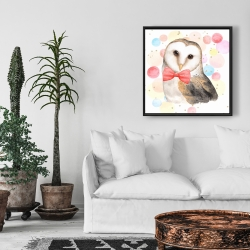 Framed 24 x 24 - Chic owl