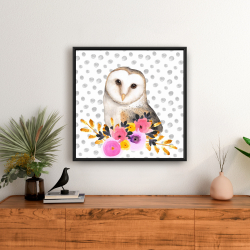 Framed 24 x 24 - Beautiful owl