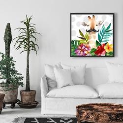 Framed 24 x 24 - Exotic giraffe