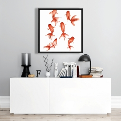 Framed 24 x 24 - Small red fishes