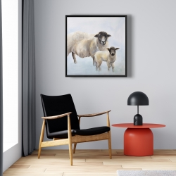 Framed 24 x 24 - Sheep and its baby