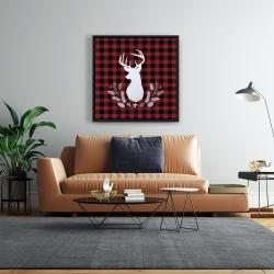 Framed 24 x 24 - Deer plaid