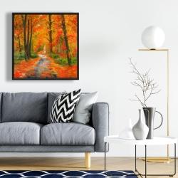 Framed 24 x 24 - Autumn trail