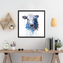 Framed 24 x 24 - Watercolor jersey cow