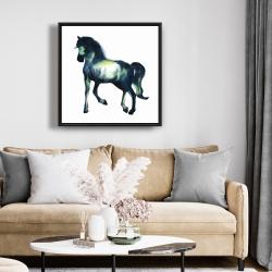 Framed 24 x 24 - Elegant horse