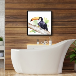 Framed 24 x 24 - Toucan perched