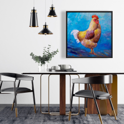 Framed 24 x 24 - Beautiful rooster