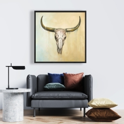 Framed 24 x 24 - Cow skull