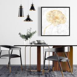 Framed 24 x 24 - Golden poppy flower