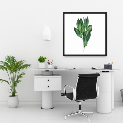 Framed 24 x 24 - Bay leaves bundle