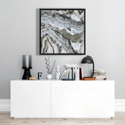 Framed 24 x 24 - Abstract geode
