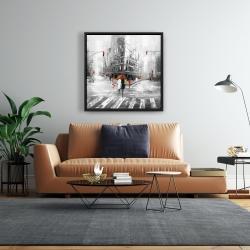 Framed 24 x 24 - Greyish flatiron building