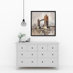 Framed 24 x 24 - London tower bridge