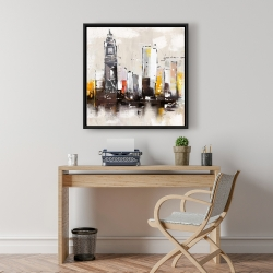 Framed 24 x 24 - Artistic cityscape