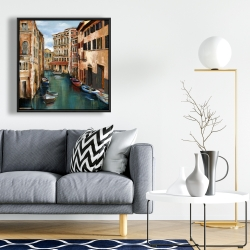 Framed 24 x 24 - Magical venice canal