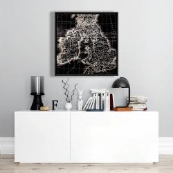 Framed 24 x 24 - Roman britain maps