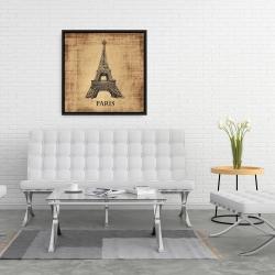 Framed 24 x 24 - Eiffel tower illustration