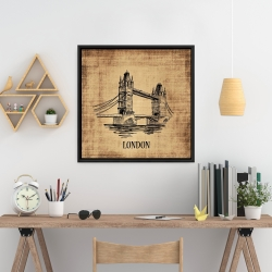 Framed 24 x 24 - Tower bridge illustration