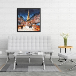 Framed 24 x 24 - Illuminated paris