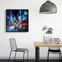 Framed 24 x 24 - Abtract times square